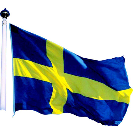 Flagga Sverige, 420 cm